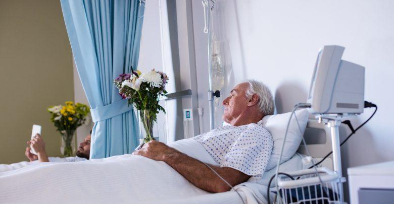 Cama Hospital con paciente