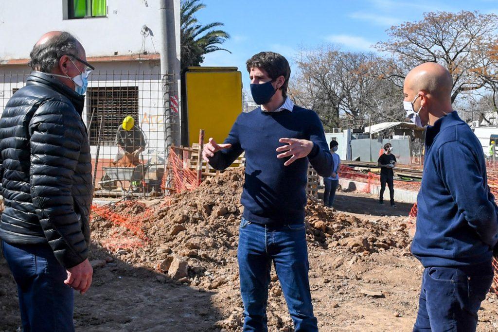 Juan Andreotti en la obra del túnel Martín Rodriguez