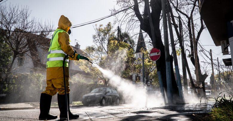 Desinfección en barrios y vía pública
