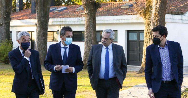 Alberto Fernández con Massa