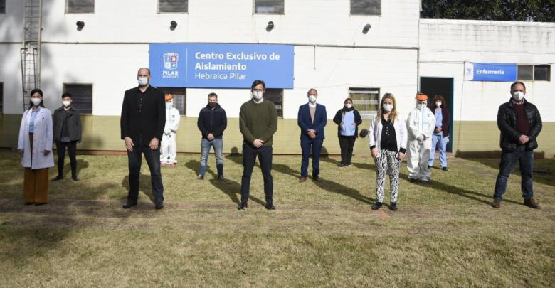 Federico Achával en la inauguración del segundo centro de aislamiento para pacientes Covid