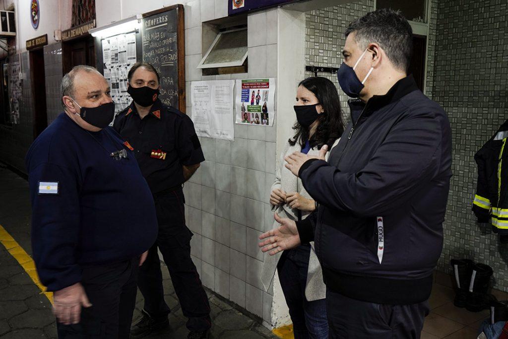 Jorge Macri en el cuartel de los bomberos