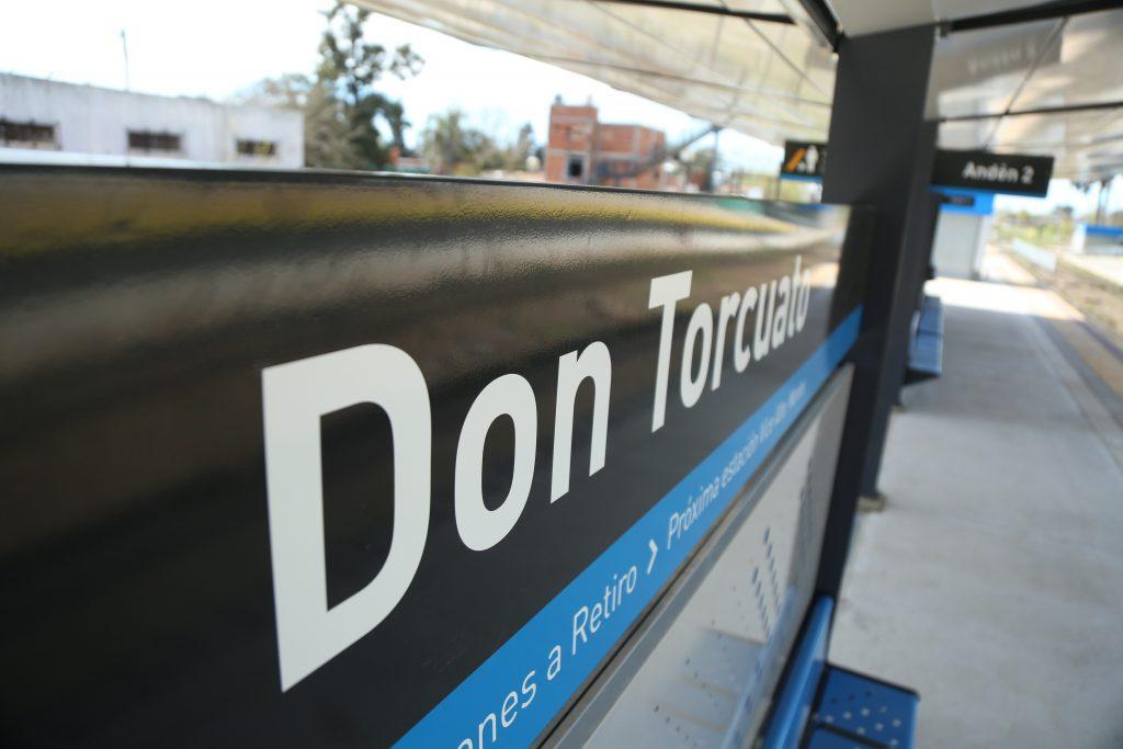 Reinauguraron la estación de Don Torcuato