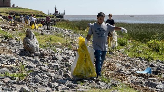Limpieza en la costa