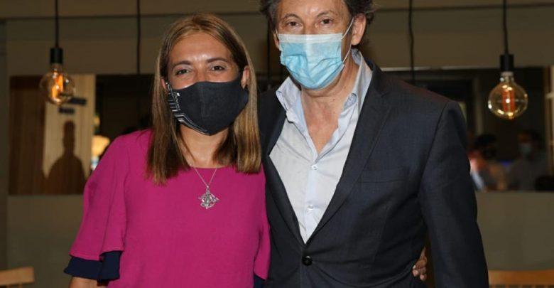 Danya Tavela y Gustavo Posse