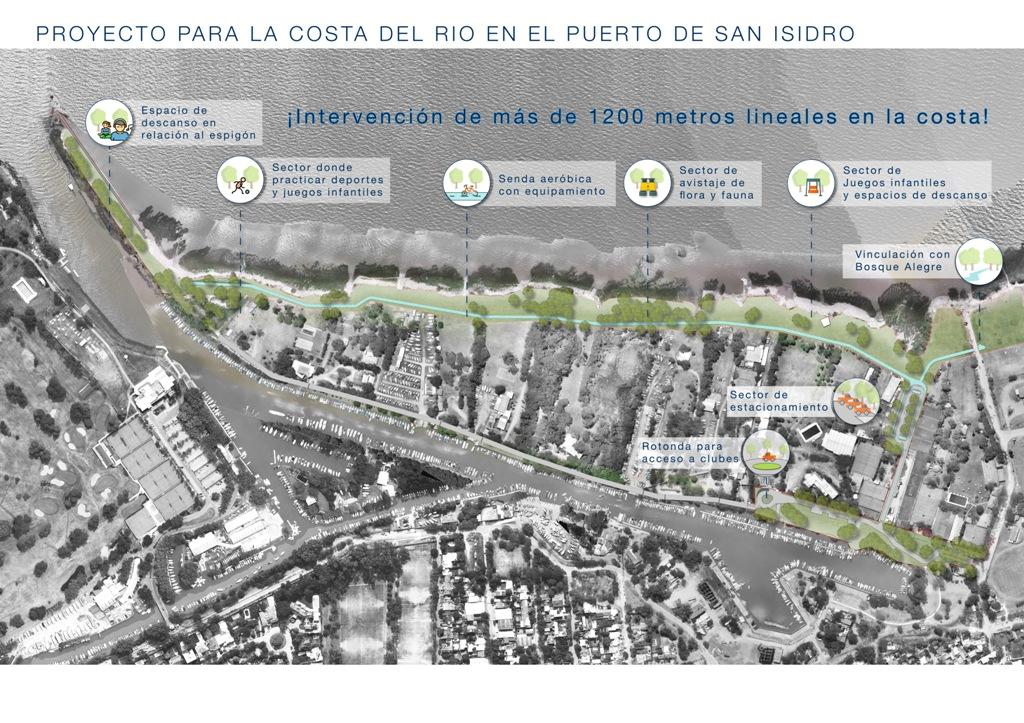 Proyecto para la costa del río en el puerto de San Isidro