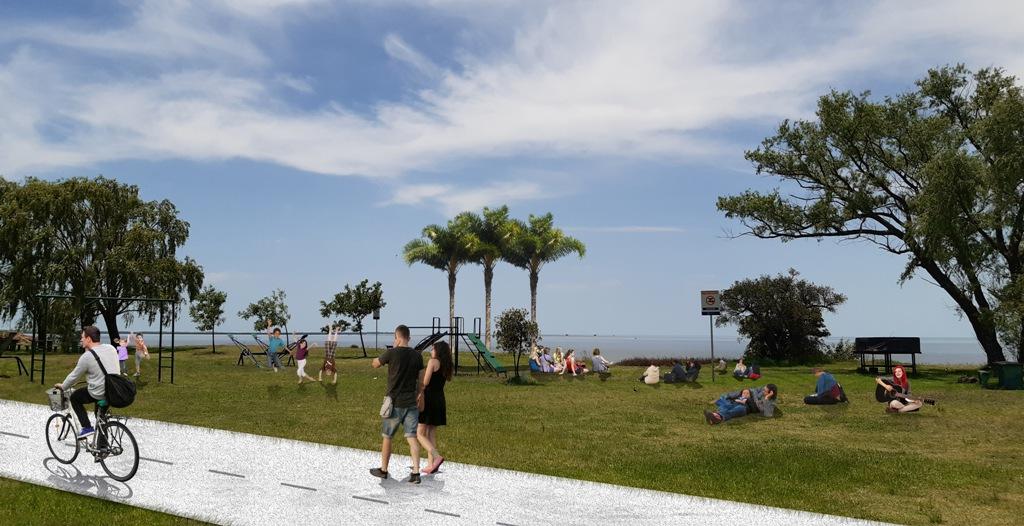 Render de lo que será la costa de San Isidro