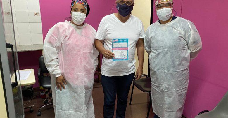 Julio Zamora recibió la segunda dosis de la vacuna