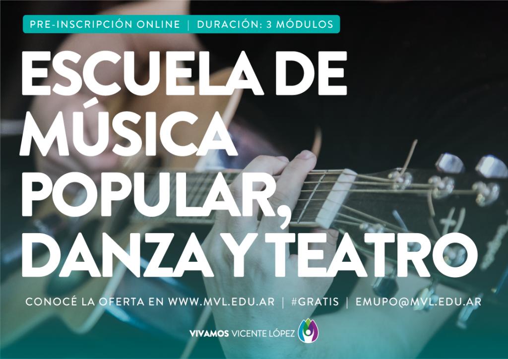 Inscripción a la Escuela de Música Popular, Danza y Teatro