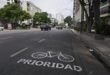 Demarcación vial para uso responsable de bicicletas
