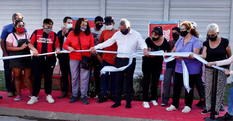 Julio Zamora inauguró una nueva senda aeróbica en General Pacheco