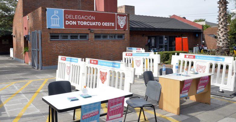 Punto de vacunación contra el COVID-19 en Don Torcuato
