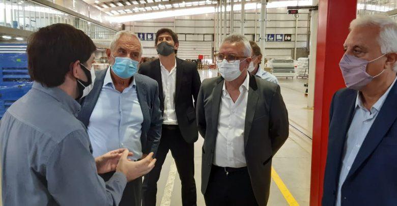 Julio Zamora en la Plataforma Logística Industrial Norlog en la localidad de Benavídez