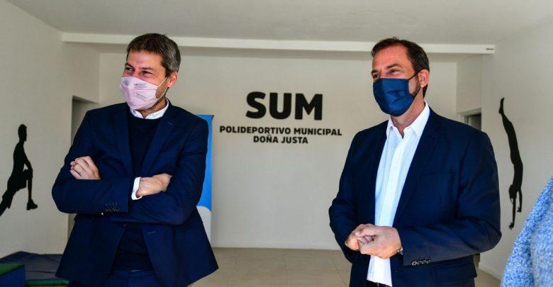 Ariel Sujarchuk y el ministro de Turismo y Deportes de la Nación, Matías Lammens