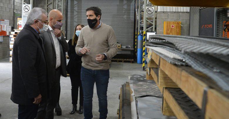 El intendente de Tigre recorrió junto al secretario Pyme del Ministerio de Desarrollo Productivo, Guillermo Merediz, la empresa MSH radicada en El Talar