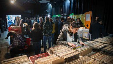 Feria de discos de vinilo