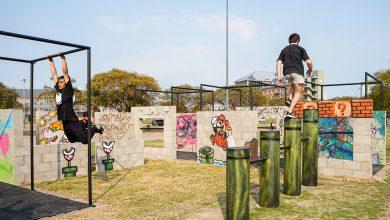 Parque de parkour para deporte extremo